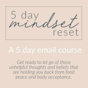 Pink background with text that reads 5 Day Mindset Reset