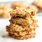 Stack of five ANZAC biscuits