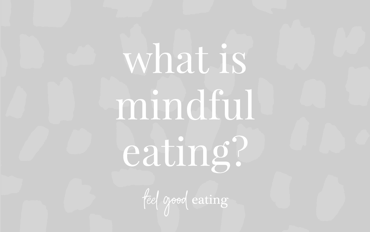 Purple background with text reading What is Mindful Eating?