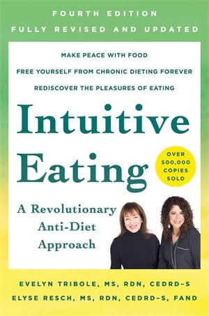 The cover of the Intuitive Eating book 4th Edition